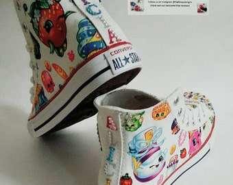 Bling Crystal Shopkins Converse, bedazzled shoes, birthday chucks