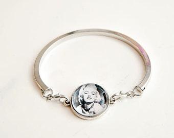 Bezel Bracelet - Marilyn Monroe Bezel bracelet, bezel bracelet, unique gift