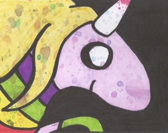 "lady rainicorn 6x4"" art print"