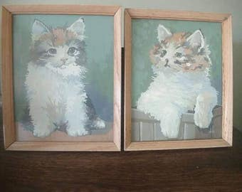 Vintage Paint by Number Cats