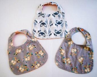 Modern Flannel Baby Bibs  (Free Shipping)