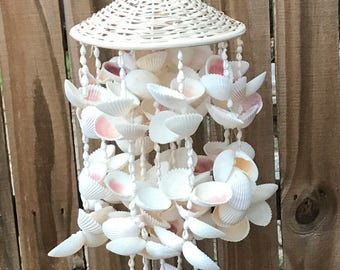 Vintage Seashell Wind Chime Boho Decor