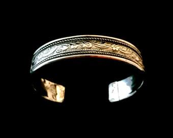 Steel cuff bracelet