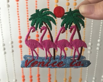 Vintage Venice Ca. Flamingo Iron On Patch