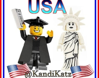 USA Mini Figures,Statue of Liberty Toy, Graduation Figure,Block Toys,Cake Topper,Christmas Gift,Birthday Present