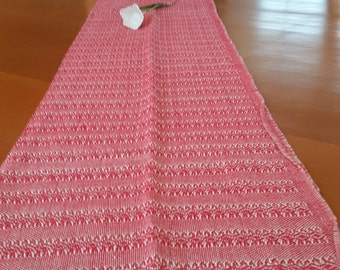 Table runner mexican rebozo. 100% cotton, hand woven.Home.decor, mexican style