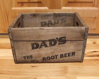Vintage Dad's Root Beer wooden crate