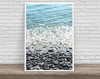 Shimmery Shoreline - Digital Color Photography - Wall Art - [Instant Download]