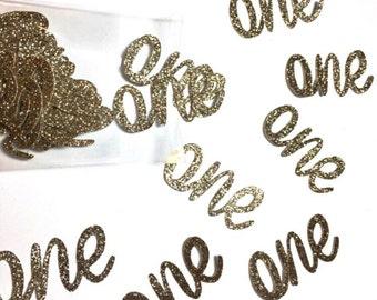 1st Birthday Confetti.  Birthday age confetti. Age confetti. Gold glitter confetti.   Party confetti.  1st Birthday decorations.  Gold