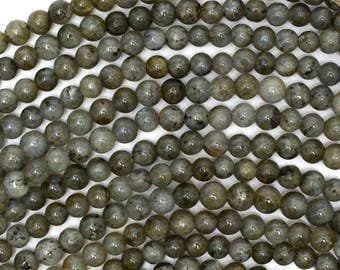 "4.5mm grey labradorite round beads 15.5"" strand 39004"