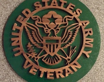 United States Army Veteran Emblem Wall Hanging