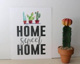 Home Sweet Home Cacti