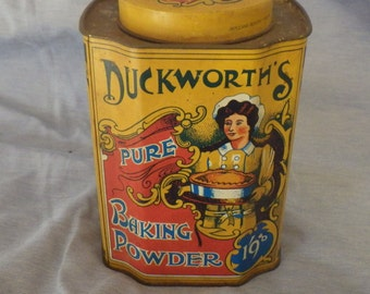 Vintage Duckworth's Pure Baking Soda Containers