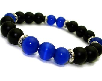 Yoga bracelet for man Jewelry mens stone bracelet gemstone wholesale bracelets with meaning Meaningful gifts for him Royal blue bracelet