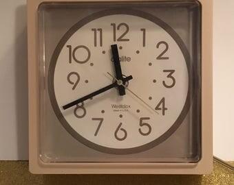 Vintage 1970's clock, Westclox, electric clock