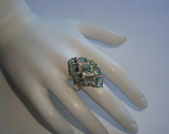 Genuine Light Azore Gemstone 925 Silver Ring - Size 6