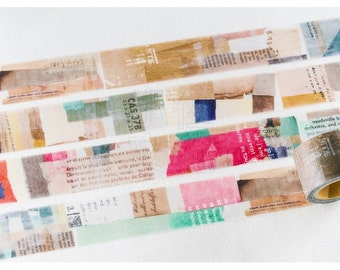 NEW Chamil Garden x Little Path VOL.8 Washi Tape - COLOR