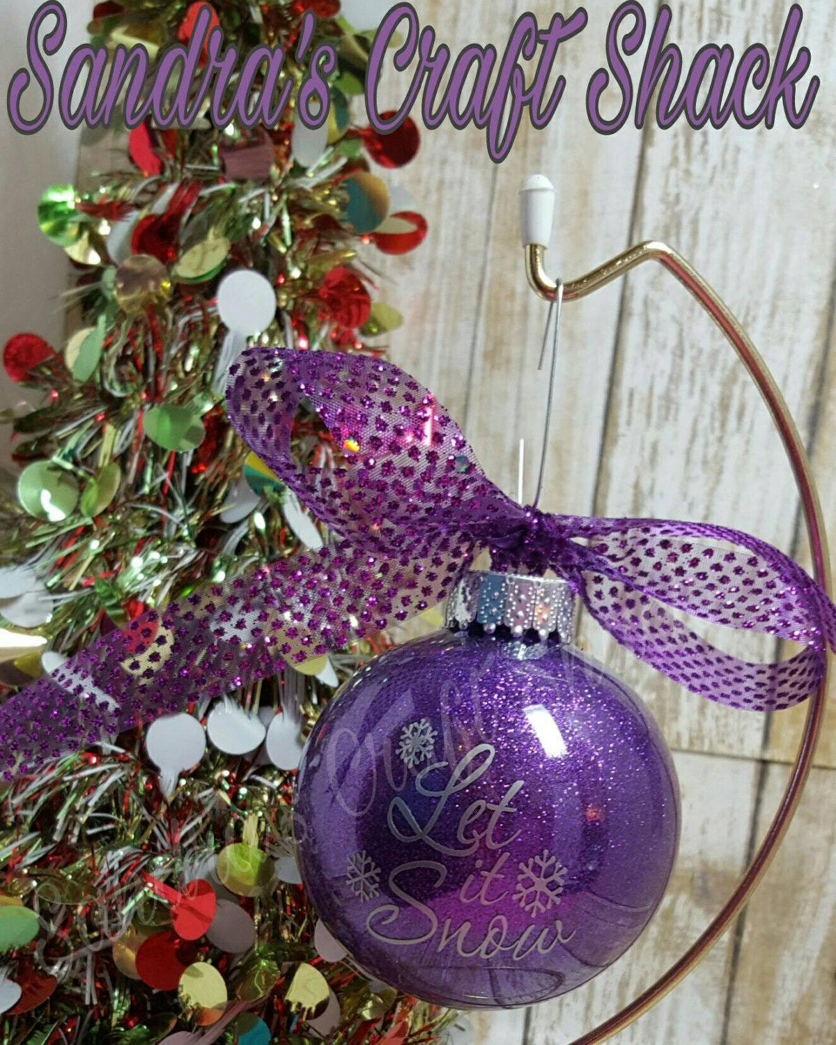 Personalized Ornaments Choose Color Name Year And Small