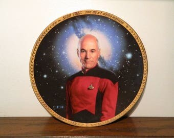 Vintage Star Trek Next Generation Captain Jean-Luc Picard 1993 Collectors Plate