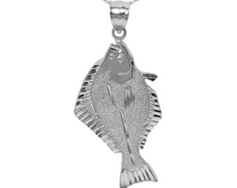 925 Sterling Silver Fish Pendant