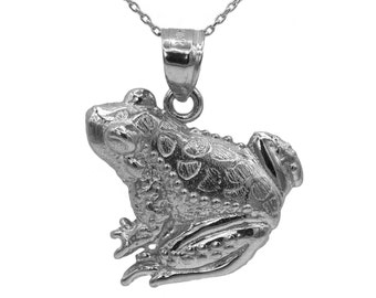 925 Sterling Silver Frog Necklace