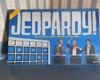 Vintage Jeopardy Board Game by Pressman from 1986