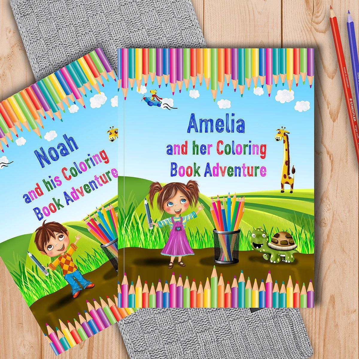 Malbuch für Kinder personalisiert mit Namen und persönlichen