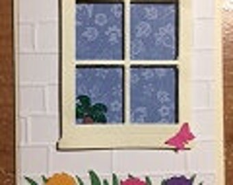 Window Happy Mothers Day Card