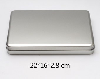 a5 rectangular metal tins blank diy storage box 7 8 inch tablets case qty 1