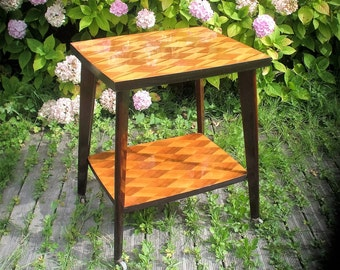 "Small deserted wood of the 1950s ""table"""