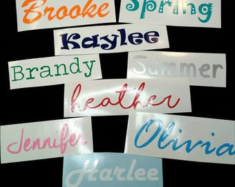 Name decal, Personalize, Custom Vinyl Stickers, Kids Names, Yeti Decal, Tumbler, Laptop, Car Decal