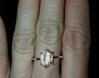 Herkimer  diamond solitaire ring size 8 clear as ice