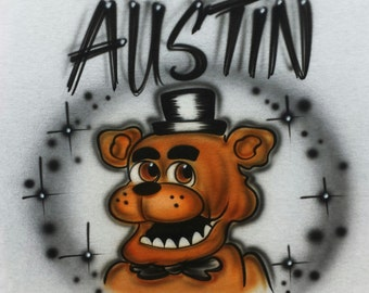 Airbrushed Five Nights At Freddy's Freddy FNAF Inspired T-Shirt Or Hoody Sweatshirt