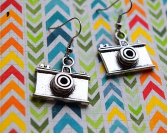 Camera earrings , Photography , Photo earrings, Gift for a photographer