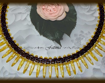 Moonlight - Pattern for this Classy Award Winner Necklace