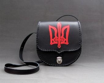 Leather Bag, Leather Bag - Flame, Shoulder Leather Bag, Gift Handbag, Leather Purse, Leather Handbag