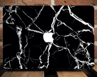 Black Marble Macbook Case MacBook Plastic Cover MacBook Pro Retina 13 Case MacBook Air 11 Hard Case MacBook Pro 15 Cover Laptop Case WCm185