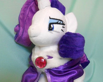 Rarity custom handmade My Little Pony plushie MLP