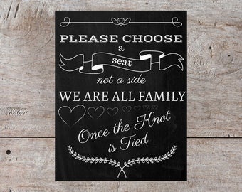 Chalkboard Wedding Sign, Wedding Decor, Wedding Sign, Wedding Signage, Wedding Reception Sign, Personalized Wedding Signs, Ceremony Sign