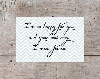 Digital Download, Engagement Card, Engagement Greeting Card, Greeting Card Ideas, Happy Engagement, Congratulations on Your Engagement