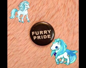 Furry Pride pin