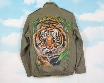 Military Jacket Tiger K4U-Creations handpainted Size M