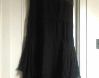 Vintage Black with Lace Flapper Dress