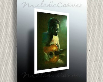 Acoustic Guitar Player (PRINT) color option available