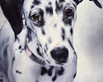 Dalmatian Dog Art Print of Original Oil Painting - Decorative Artwork