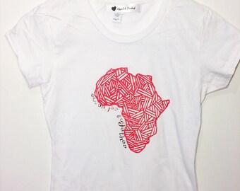 African Unity Tee // Africa Tshirt // Africa Printed Tee