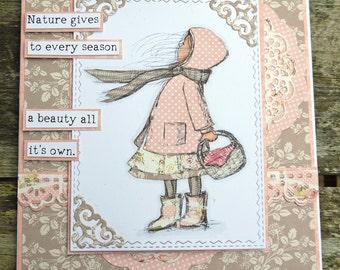 Nature Gives Handmade Card