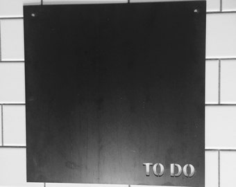 "Metal ""To Do"" Sign"