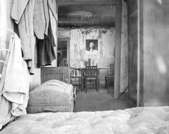 Bodie Ghost Town Photo Eerie Abandoned House George Washington California West America Southwest Wall Art Home Decor Unique B and W Print
