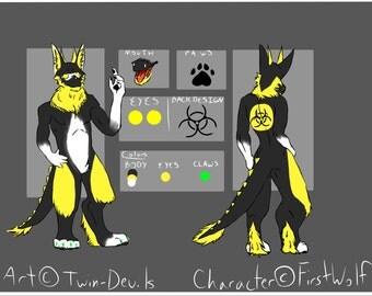Character OC Fursona Reference Sheet